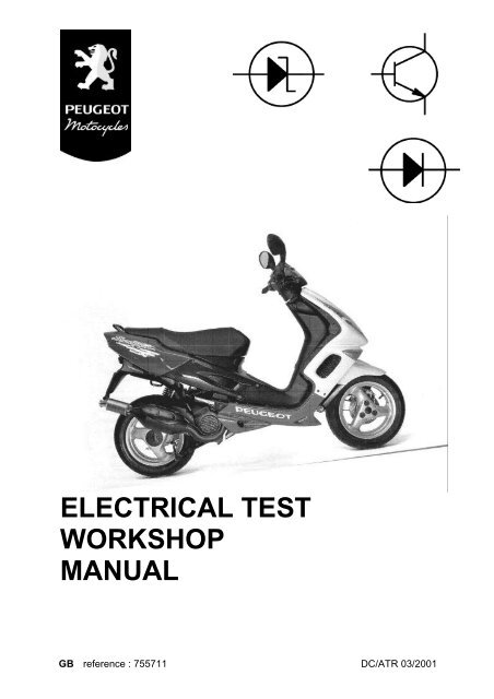 Peugeot electrical test workshop manual (755711