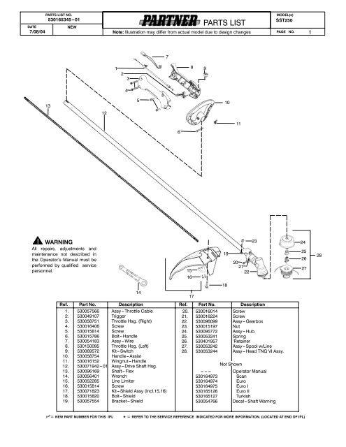 IPL, Partner, SST250, 952715460, 2004-07, Trimmer
