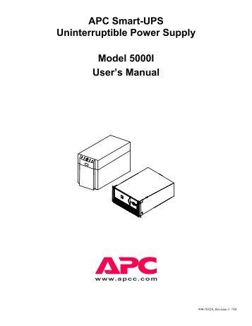 Apc Smart Ups 1000 Manual