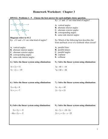 Chapter 8 Post Test Worksheet