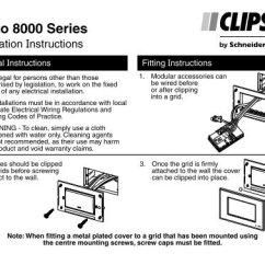 Cbus Dali Wiring Diagram Overhead Crane Pendant Installation Instructions F2352 01 Strato 8000 Series Clipsal