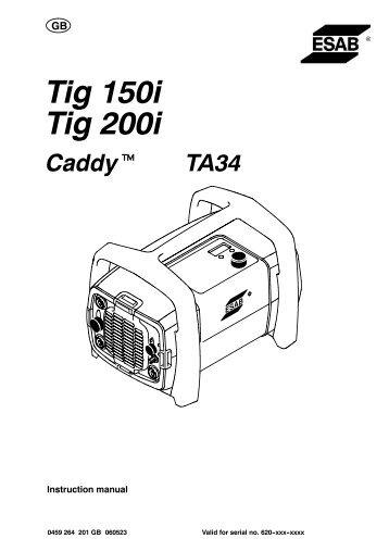 Caddy Tig 150i, Caddy Tig 200i, CaddyTig 150, CaddyTig 200