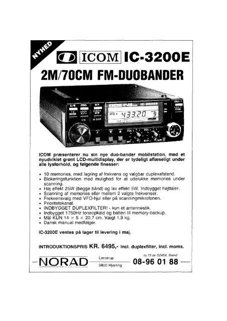 ICOMIIC-3200E 2M/70CM FM