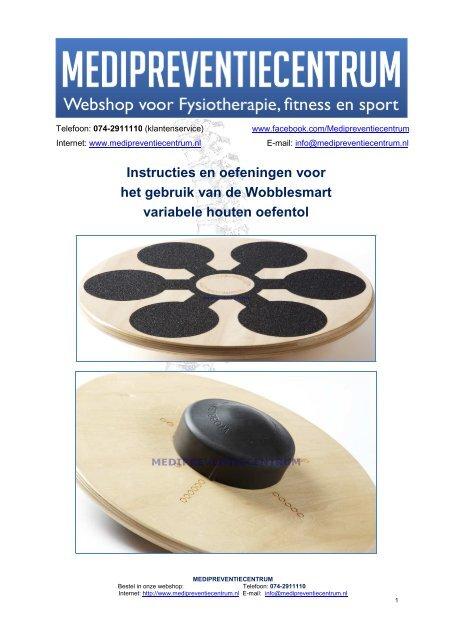 Wobblesmart variabele houten oefentol  Medipreventiecentrum