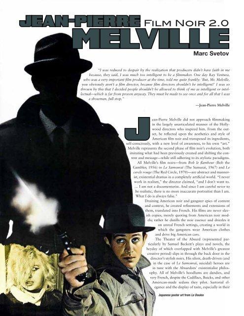 Jean-pierre Melville Films : jean-pierre, melville, films, Jean-Pierre, Melville, Transatlantic, Habit