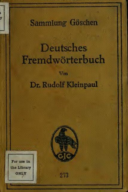 deutsches fremdworterbuch