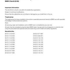 Complete Parts Diagram E46 Massage Technique Circuit Diagrams For Multi Wiring Harness Ii All 5878