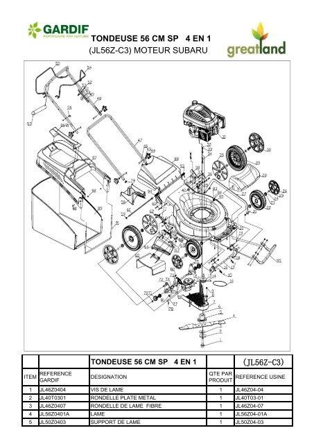 TONDEUSE 56 CM SP 4 EN 1 (JL56Z-C3) MOTEUR SUBARU