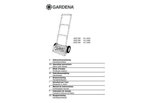 OM, Gardena, Handrasenmäher, Art 02445-20, Art 02460-20