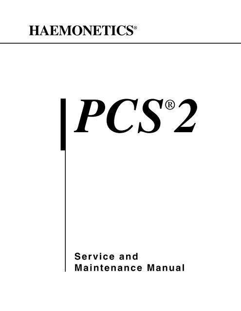PCS2 Service Manual toc-i