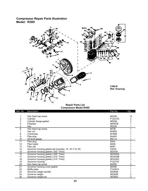 UNIT REPAIR PARTS ILLUSTR