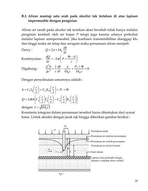 Semipermeabel Adalah : semipermeabel, adalah, Aliran, Mantap, Tertekan, Lapisan, Semipermeabel