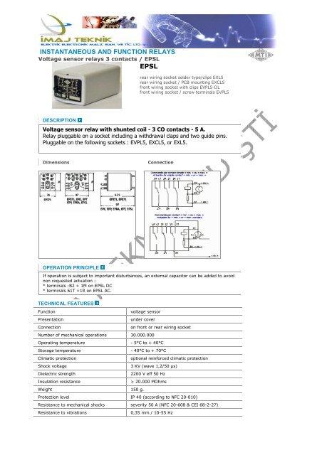 voltage sensor relays 3 contacts / epsl  Ä°maj teknik