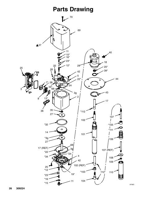 Parts Drawing 8756D 2 5 4