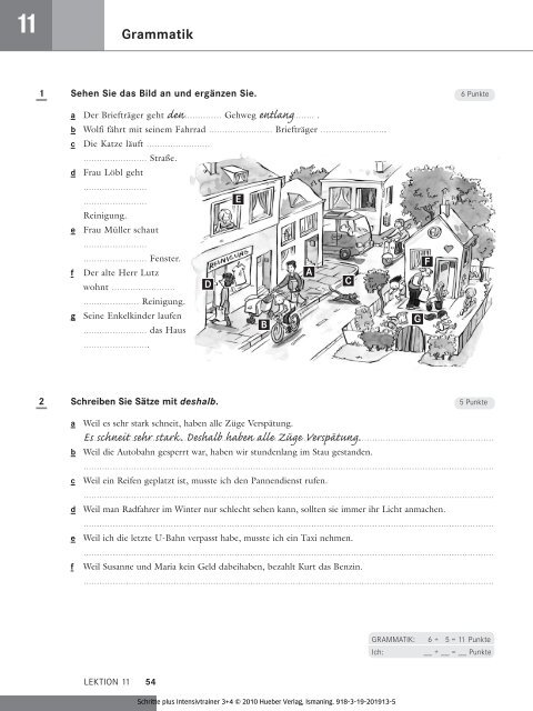 Lösungen Lektion 11 1 a