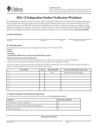 2011-2012 Verification Worksheet - IFAP - U.S. Department ...
