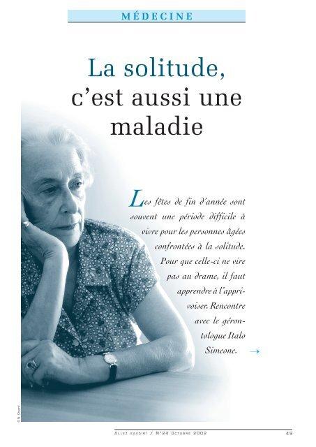 Comment Sortir De La Solitude à 50 Ans : comment, sortir, solitude, Solitude,, C'est, Aussi, Maladie, Université, Lausanne