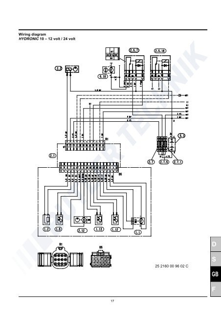 Wiring diagram HYDRONIC