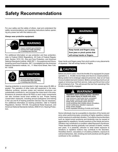 Safety Recommendations Fo