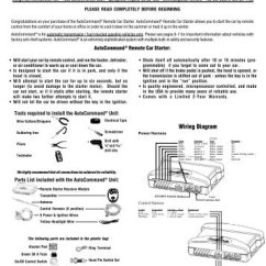 Ready Remote 24927 Wiring Diagram Virus Worksheet Model 24926 Car Starter Installation Manual For