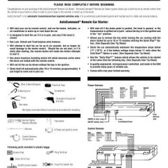 Ready Remote 24927 Wiring Diagram 2003 Dodge Ram 3500 Radio 16 White Black Wire Ig Control Car Starter Installation Manual For