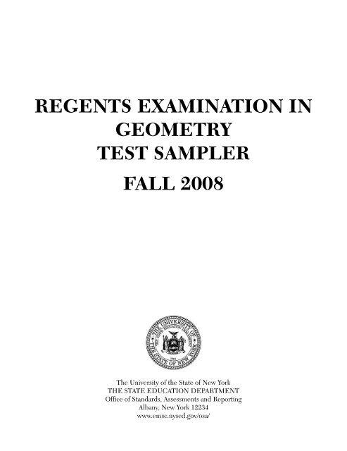 Bestseller: Nys Geometry Regents Reference Sheet