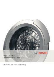 Bosch Waschmaschine Wasserhahn Symbol Blinkt : bosch, waschmaschine, wasserhahn, symbol, blinkt, Bedienungsanleitung, BOSCH, Weiss, Innova