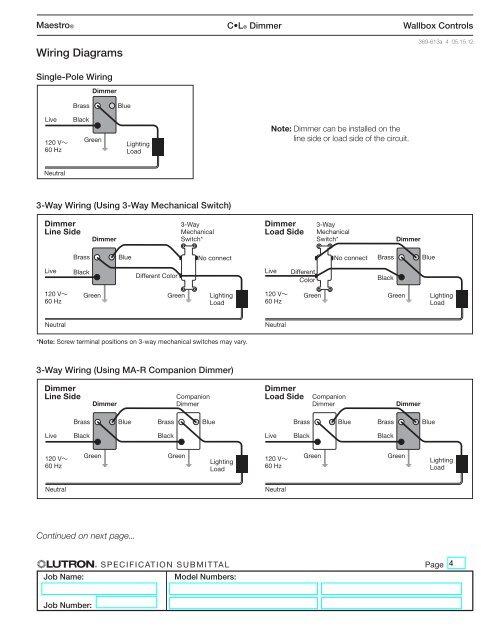 Lutron Maestro 3 Way Dimmer Wiring Diagram : lutron, maestro, dimmer, wiring, diagram, Lutron, Skylark, Dimmer, Wiring, Diagram, Networks