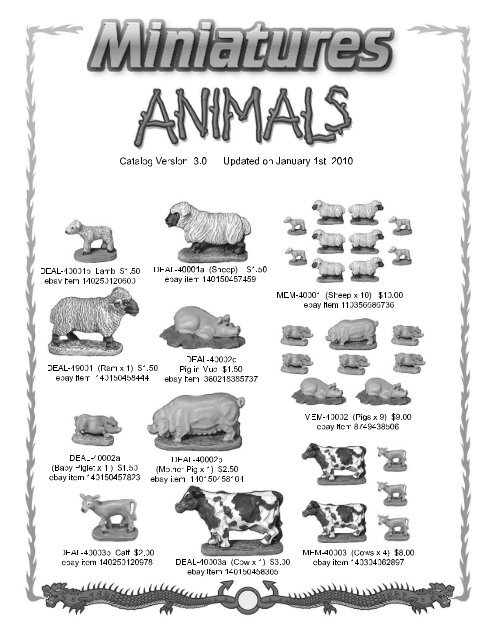 MegaMinis Animals