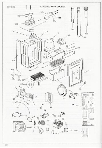 Rheem Spare Parts Manual Saturn condensing boiler 201 KCA