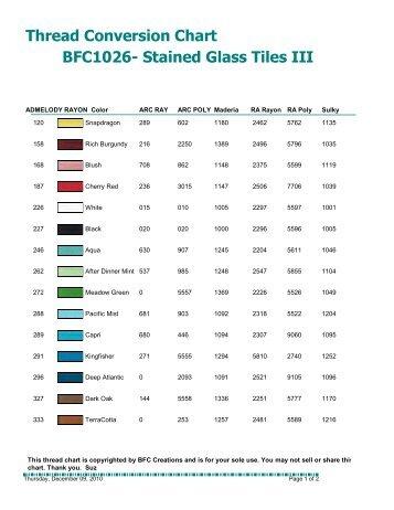 Madeira Thread Conversion Chart Rayon To Polyneon