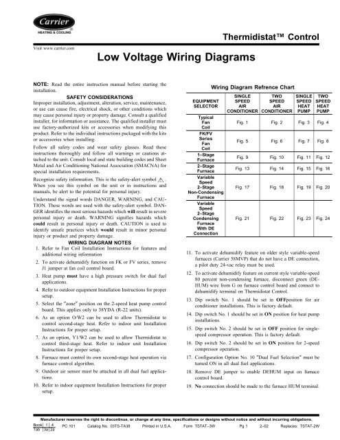 low voltage wiring diagrams  carrier