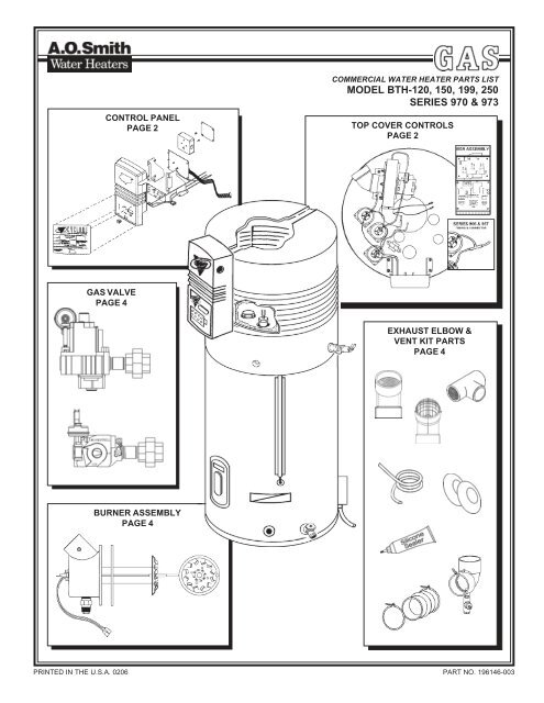 Water Heater Burner Assembly Diagram