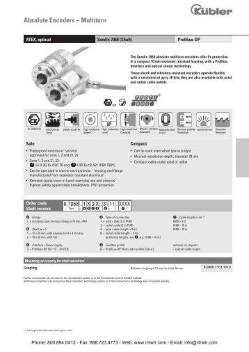 kubler encoder wiring diagram gibson single pickup sendix 5858 5878 canopen optical singleturn absolute 7068 profibus dp atex multiturn