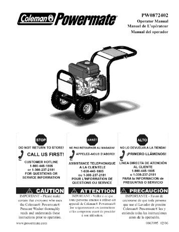 Ridgid 3000 Psi Pressure Washer Subaru Manual