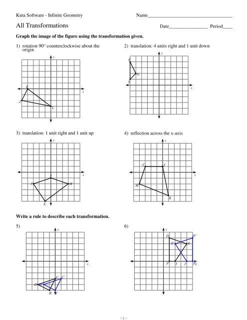 Kuta Software Infinite Geometry Rotations Answers