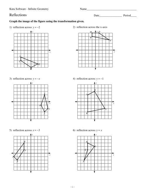 Printables of Kuta Worksheets On Transformations