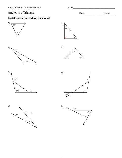 31 Kuta Software Infinite Geometry Worksheet Answers