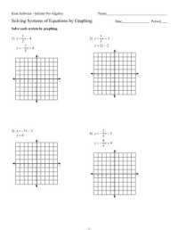 Solving Systems Of Equations By Graphing Worksheet Free ...