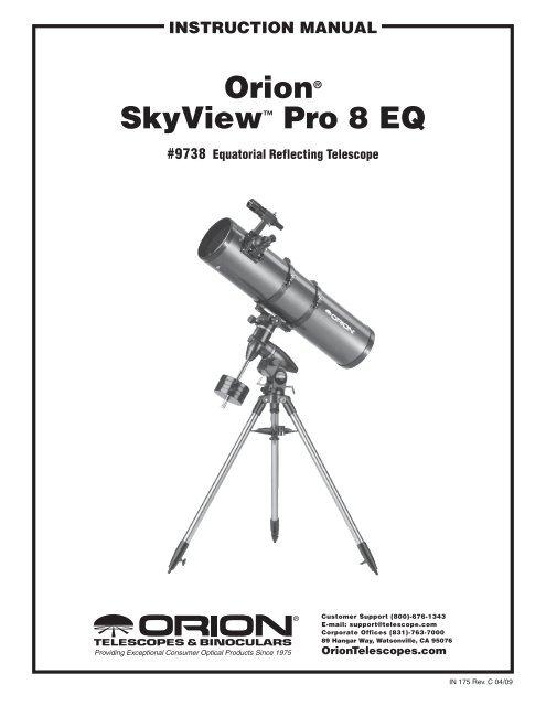 orion® skyView⠢ Pro 8 EQ