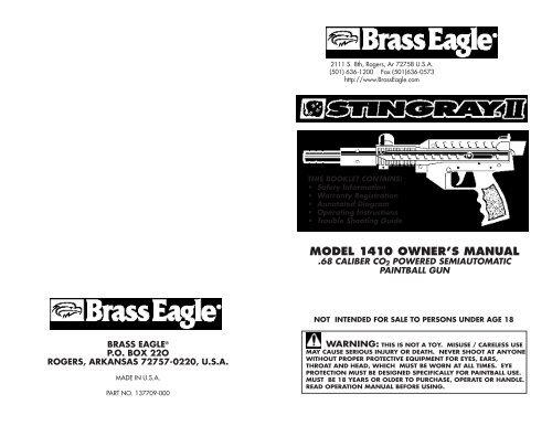 brass eagle stingray manual