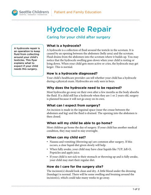 How To Drain A Hydrocele At Home - Best Drain Photos ...