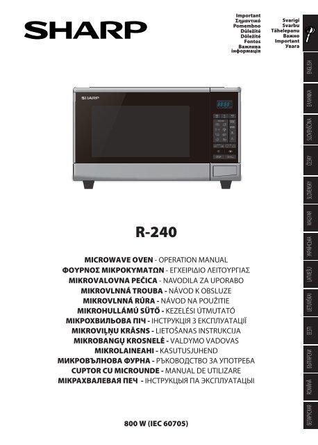 r 240 operation manual gb sharp