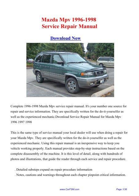 1996 Mazda Millenia Service Repair Manual