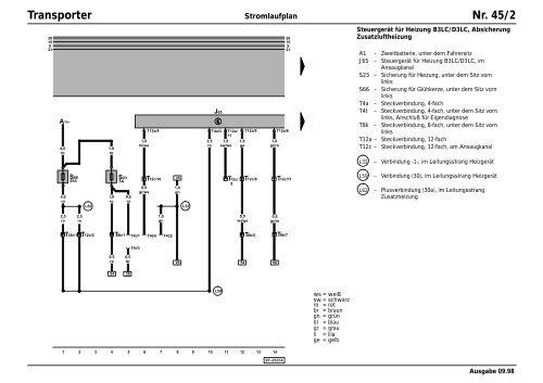 Vw T4 Stromlaufplan