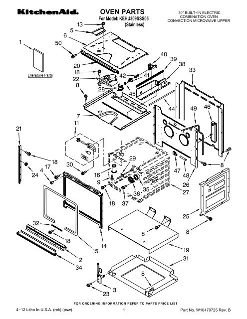 Kitchen Aid Microwave Parts