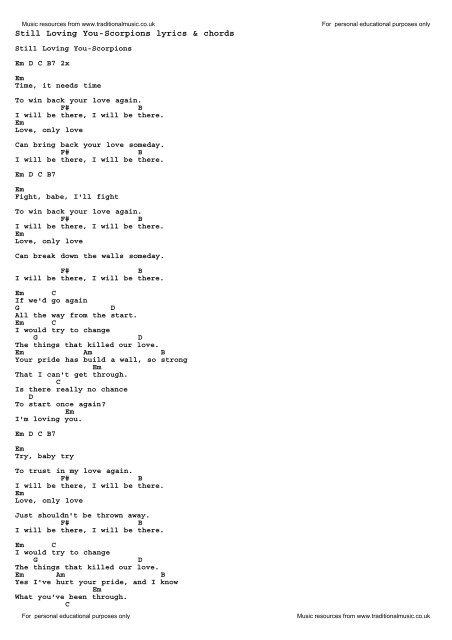 Still Loving You Paroles : still, loving, paroles, Download, Still, Loving, You-Scorpions, Traditional, Music