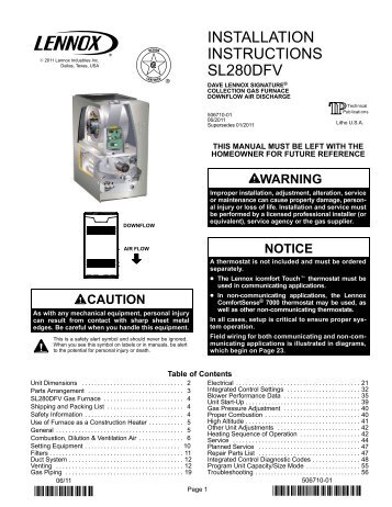 Lennox G61mpv Installation Manual: full version free