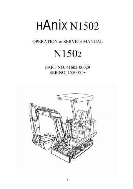 Hanix n150 2 manual