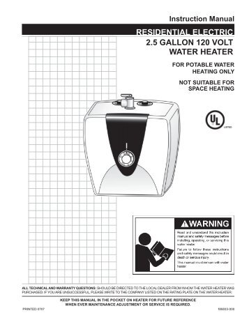 6 Gallon Water Heater, 6, Free Engine Image For User